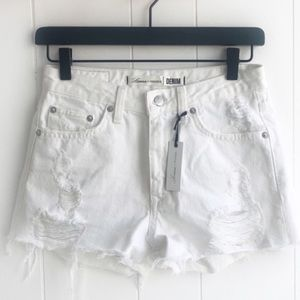 Distressed white shorts | Lovers + Friends